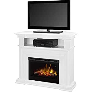 Dimplex Colleen Corner Tv Stand With Electric Fireplace In White Kitchen Dining