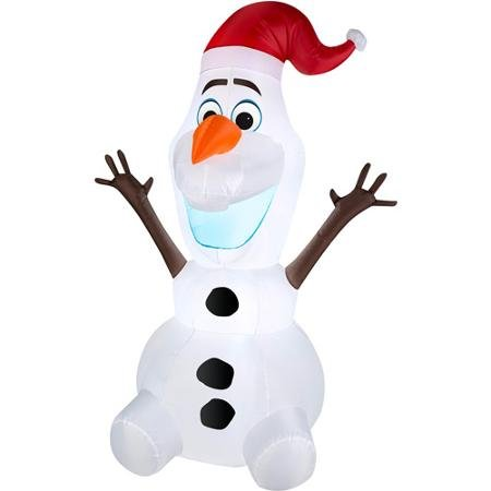 Disney Frozen Olaf 5' Christmas inflatable blow-up (energy efficient LED