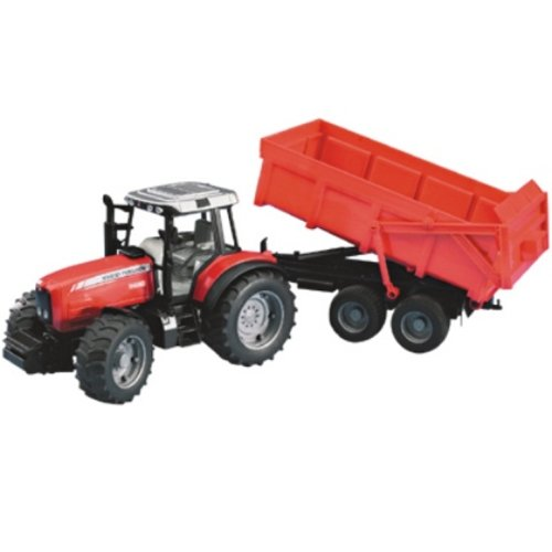 Massey Ferguson 8240 with tipping trailer