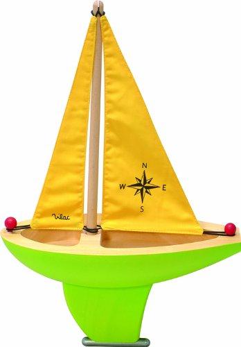 Vilac Large Sailing Boat, Green