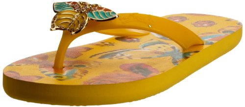 Miss Trish Womens Butterfly Yellow Thong Sandals MTR13-102 3 UK, 36 EU, 5 US, Regular