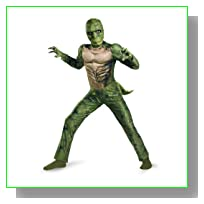 The Amazing Spider-man Lizard Classic Muscle Costume, Green/Tan, Medium
