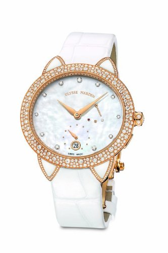 Ulysse Nardin Jade Ladies Diamond Rose Gold Automatic Watch 3106-125BC/991