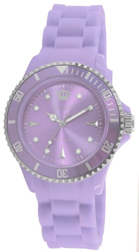 Jet Set J18314-58 - Reloj para mujer de caucho Resistente al agua violeta