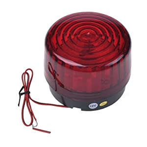 Neewer® Outdoor Red Security Strobe Light, Great for Emergency Workers, Postal Service, Construction Vehicle, Security, etc