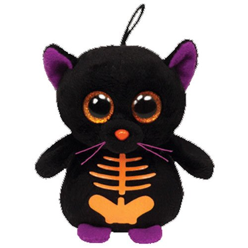 Ty Halloweenie Beanie Scaredy - Black Cat
