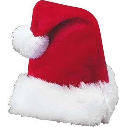 OTC Plush Santa Hat Red