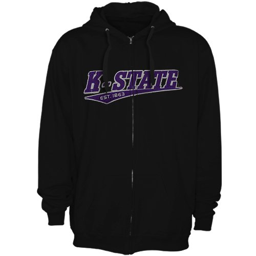 NCAA Kansas State Wildcats Arch &amp; Logo Full Zip Hoodie - Black (Small) Amazon.com