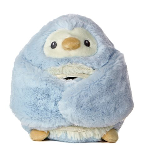 "Aurora World Peek-A-Boo Blue Penguin 6.5"" Plush"
