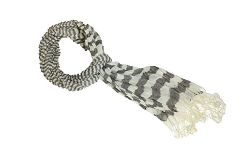 Fashion Dimensions Infinity Grey Stripes Fashion Scarf