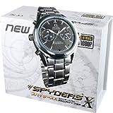 スパイダーズX 腕時計型カメラ 小型カメラ スパイカメラ (W-701) メタル文字盤