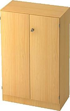 Amstyle Estantería con puertas 6550SG, color Buche/Buche