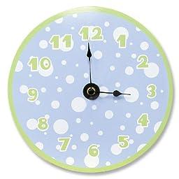 Trend Lab Blue / Sage Clock Blue Dot, Sage Number and Border