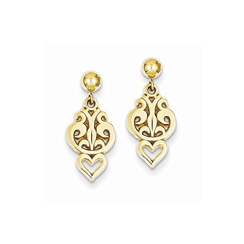 designer jewelry Best Designer Jewelry 14k Polished Fancy Dangle Post Earrings