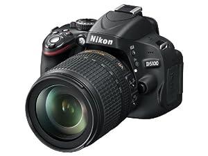 Nikon D5100 SLR-Digitalkamera (16 Megapixel, 7.5 cm (3 Zoll) schwenk- und drehbarer Monitor, Live-View, Full-HD-Videofunktion) Kit inkl. AF-S DX 18-105 mm VR (bildstb.)