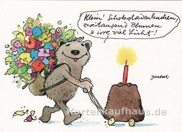 Janosch Postkarte Klein' Schokoladenkuchen,...