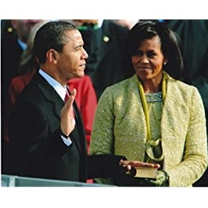 President Barack Obama and Michelle Obama Unsigned 8x10 inch Inauguration Day Photo