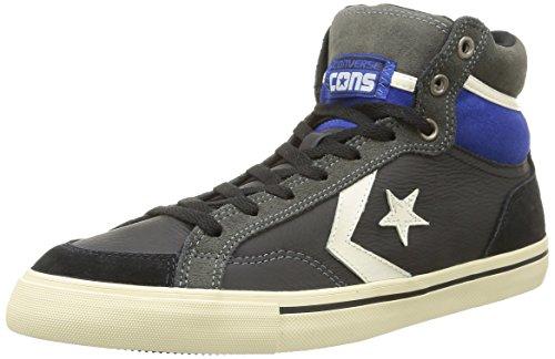 Converse, Pro Blaze Hi Leather/Suede Sneaker,Unisex Adulto, Nero (Black/Charcoal), 40