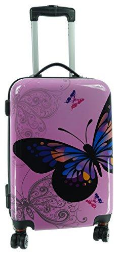 Valise rigide en carbone/papillon case valise trolley polycarbonate rose taille m 4000278318421