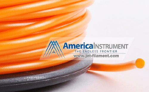 Jet - PLA Filament 1kg (=2.2 lbs) on Spool for 3D Printer Makerbot, Reprap, Makergear, Ultimaker, Up!, etc. - USA (3.00mm, Orange)