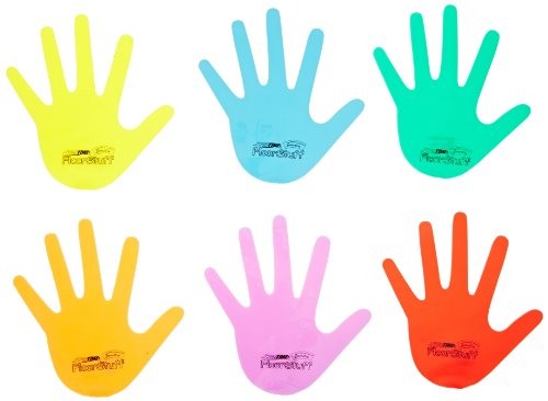 Sportime Floorstuff Floor Marker Hands - 6 1/2 inches - Set of 6 - Assorted Colors - 1