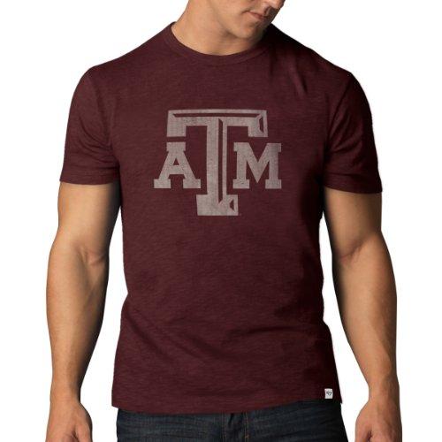 Ncaa Texas A&M Aggies Men'S Scrum Basic Tee, Maroon, Large front-947884