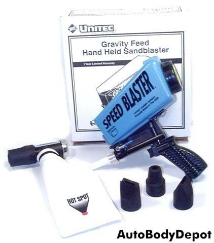 Big Save! UNITEC GRAVITY FEED HAND HELD SANDBLASTER with HOT SPOT Recovery System
