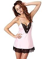 Senfloco - Femme Sexy Lingerie Robe de Nuit Nuisette avec dentelle Vêtements de nuit