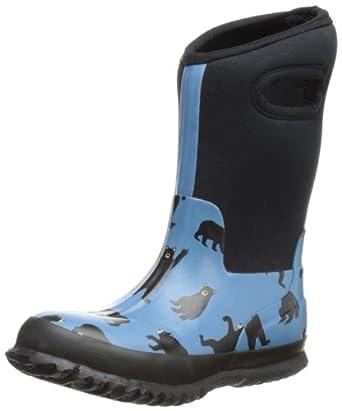 Hatley Little Boys' Neoprene Boots-Bears, Blue, 3