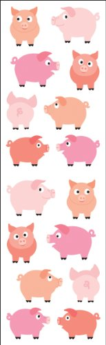 Mrs. Grossman's Stickers-Chubby Pigs