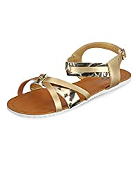 Yepme Golden Sandals -- YPWFOOT9339_9