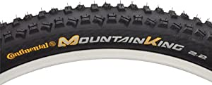 Continental Mountain King II Fold Bike Tire, Black, 26-Inch x 2.2 from Continental