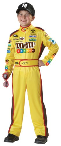[California Costumes Nascar Kyle Busch Child Costume, Medium Plus] (Race Car Driver Kids Costumes)