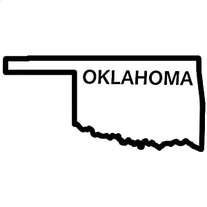 Amazon.com - Oklahoma State Outline Decal Sticker (black, 5 inch