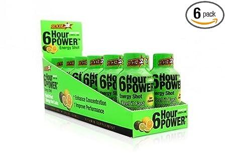 Отзывы Stacker 6 Hour Power Energy Shot Bottle, Lemon Lime, 2-Count Boxes (Pack of 6)