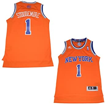 NBA New York Knicks Stoudemire #1 Youth Jersey Top with Embroidered Logo by NBA
