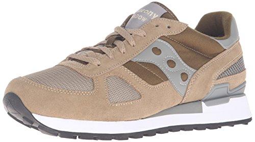 Saucony Shadow Original, Sneaker a Collo Basso Uomo, Beige (Taupe/Green), 42 EU