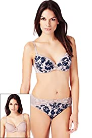 2 Pack Per Una Floral Print Padded B-DD Bras