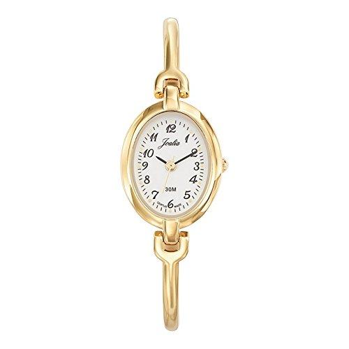 Joalia-631618-Orologio da donna con cinturino quadrante, in metallo dorato