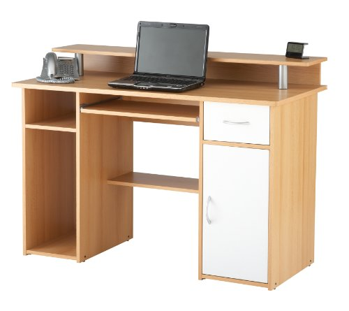 Albany Beech Effect Computer Desk Workstation