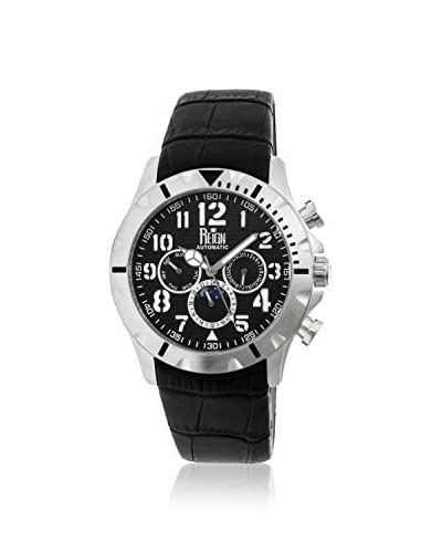Reign Automatic Men's Nehru Black Leather Watch