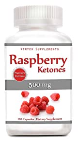 Raspberry Ketones, 500 Mg Per Capsule, 120 Capsules, 100% Pure All Natural Lean Weight Loss Appetite Suppressant Supplement