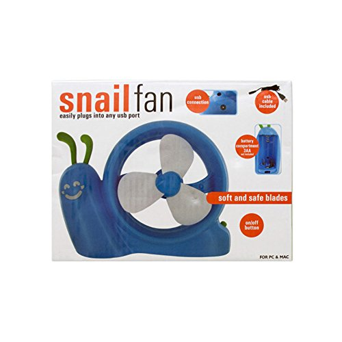 Bulk Buys Battery Operated Snail Usb Fan Pack Of 4