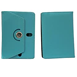 Brain Freezer 7Inch Rotating Flip Flap Case Cover Pouch Carry For Xolo Play Note Light Blue