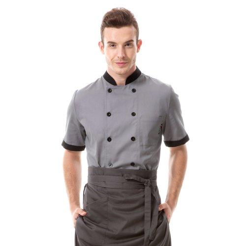 veste-de-chef-cuisinier-manches-courtes-homme-gris