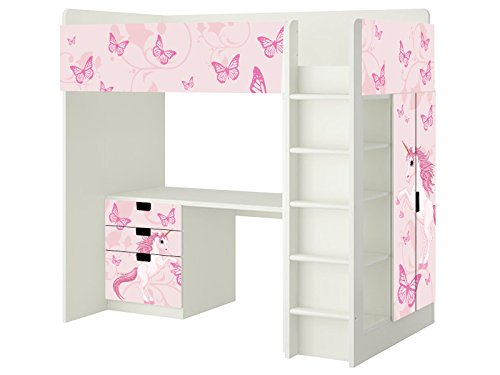 einhorn aufkleber sh14 passend f r die kinderzimmer hochbett kombination stuva von ikea. Black Bedroom Furniture Sets. Home Design Ideas