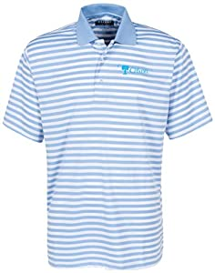 Oxford NCAA Citadel Bulldogs Mens Bar Stripe Golf Polo, Surf Blue White by Oxford