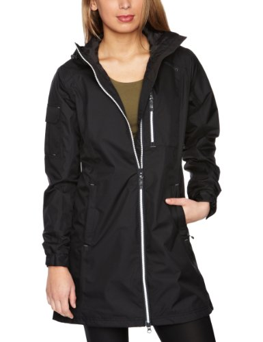 Helly Hansen Women's Long Belfast Waterproof Jacket - Black, X-Large