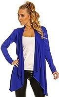 Glamour Empire Femme Veste cascade manche longue gilet matière T-shirt 320