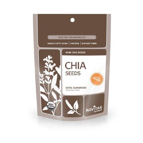 Navitas Naturals Organic Raw Chia Seeds, 8-Ounce